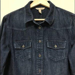 MNG Jeans button down denim shirt dark wash